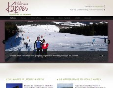 Landhaus Kappen mit neuer Homepage